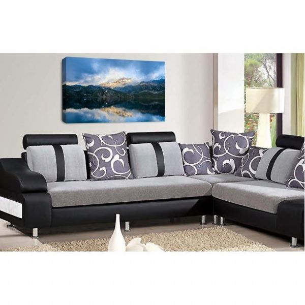 Landscape Mountain Canvas Art Reflection Lake Wall Picture Print